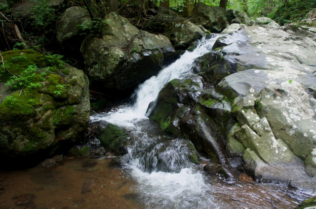 Upper waterfall, Thornton River Trail, Shenandoah National Park