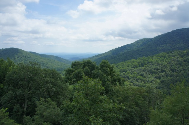 View of Hazel River area from White Rocks Trail, Shenandoah National Park