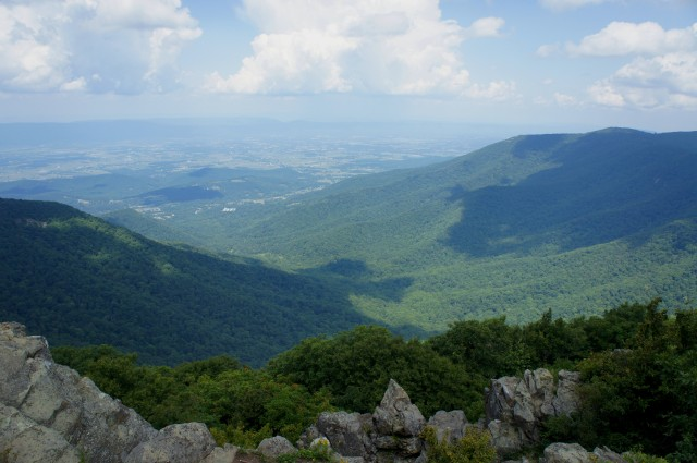 Timber Hollow and the Shenandoah Valley from Hawksbill, Shenandoah National Park