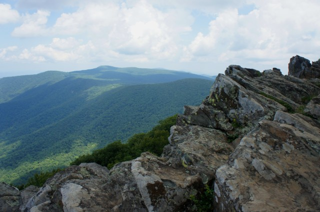 View of Stony Man Mountain and Blue Ridge from Hawksbill, Shenandoah National Park
