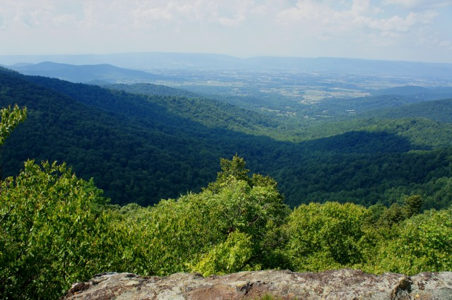 Kite Hollow and the Shenandoah Valley from the Franklin Cliffs