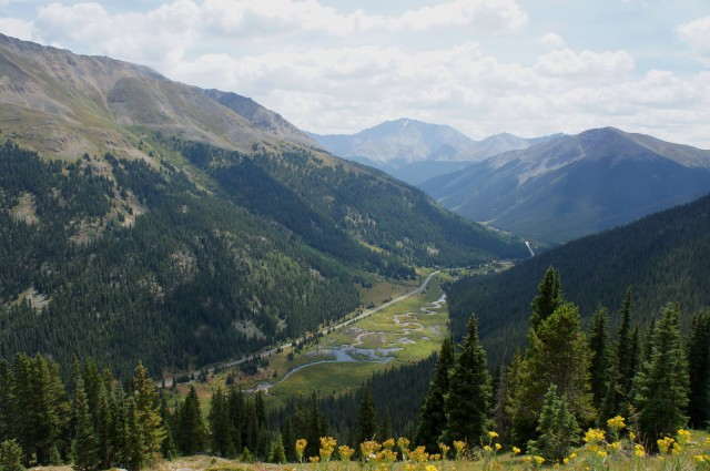Highway 82 from near Independence Pass, Colorado, August 2015