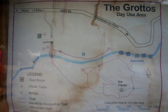 Map of Grottos Trail