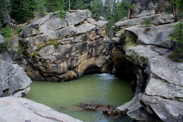 Popular swimming hole near the Grottos, en route to Aspen, Colorado