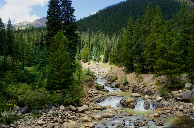 Small waterfall on Graham Gulch, off Highway 82 southeast of Independence Pass