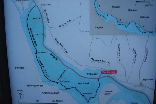 Trail map, Billy Goat Trail