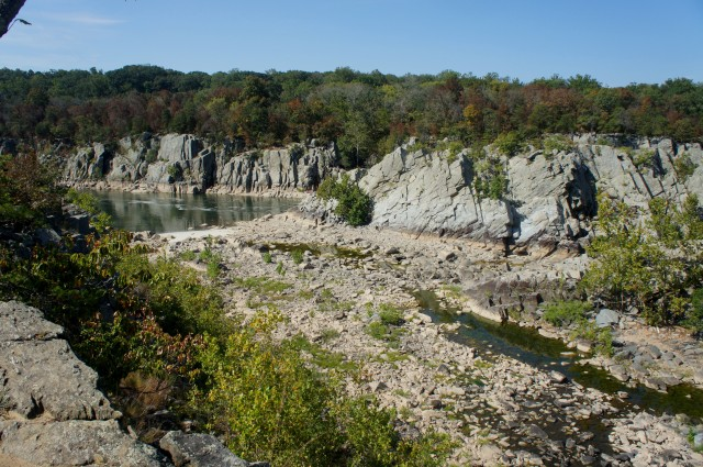 "Potomac River and ""Back Channel"", near the end of the Billy Goat Trail"