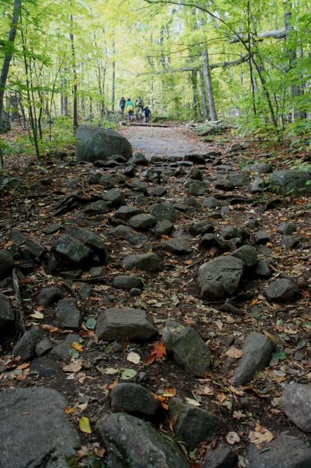 Steep and rocky hike up Hadley Mountain
