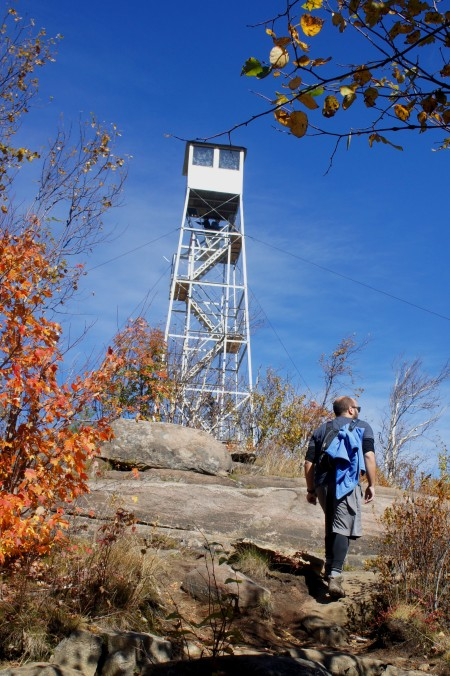 Approaching the Hadley Mountain fire tower