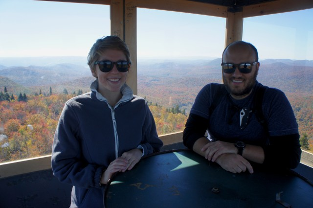 Inside the Hadley Mountain fire tower