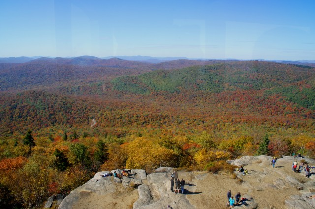 View north to the High Peaks of the Adirondacks