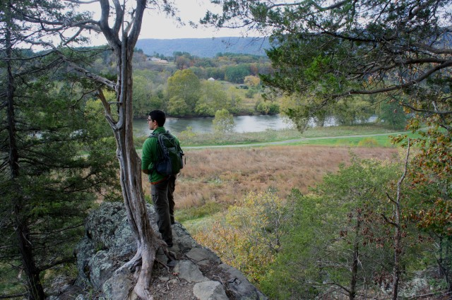 Observation Point, Redtail Ridge Trail, Shenandoah River State Park, October 2015