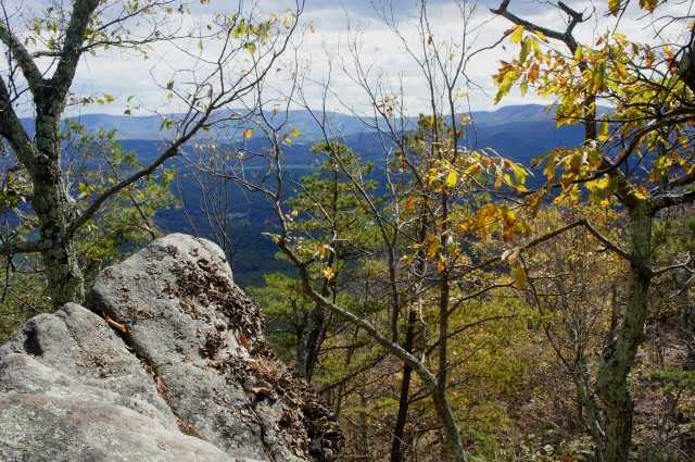 View from the first overlook, Veach Gap Trail