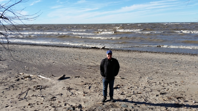 Windswept beach on Lake Erie at Evangola State Park