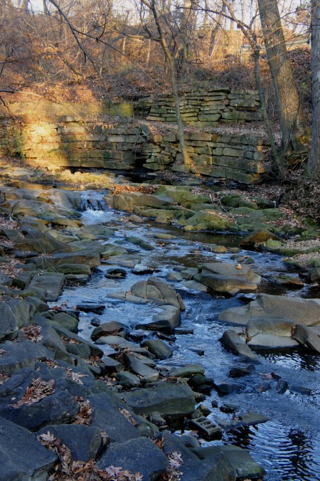 Lubber Run and the stone wall