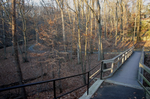 Final hill, leading up to Arlington Boulevard