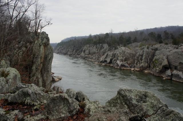 River Trail, Great Falls Loop, Great Falls Park, December 2015