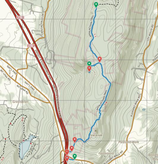 Appalachian Trail to Annapolis Rocks and Black Rock (South Mountain ...
