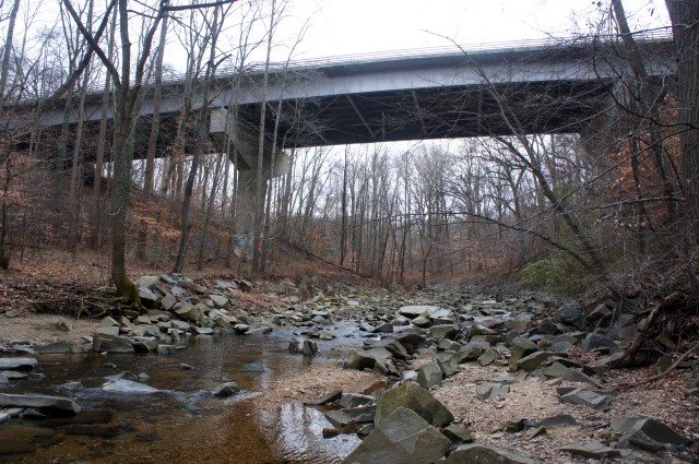 Pimmit Run and GW Parkway, southeast of Fort Marcy