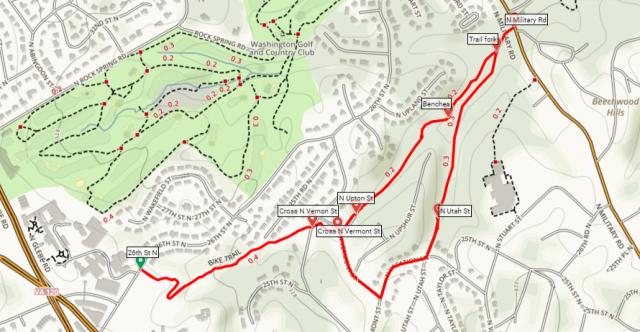 Zachary Taylor Trail Zachary Taylor Park Arlington Virginia map