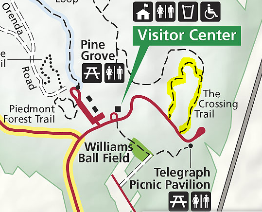 The Crossing Trail map Prince William Forest Park