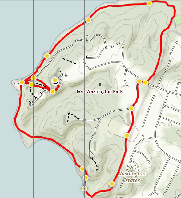Fort Washington Loop trail map