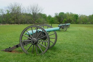 Civil War-era artillery at Matthews Hill