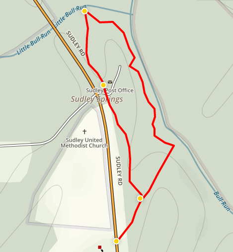 Sudley Loop Trail map