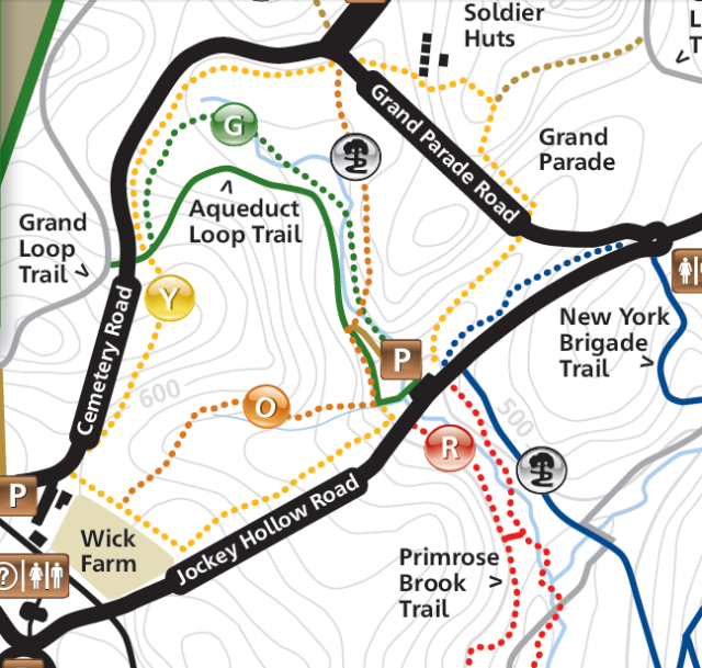 Yellow Trail map Morristown