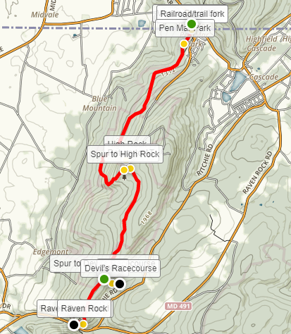 Appalachian Trail – Maryland Section 1: Pen Mar to Raven Rock Hollow ...