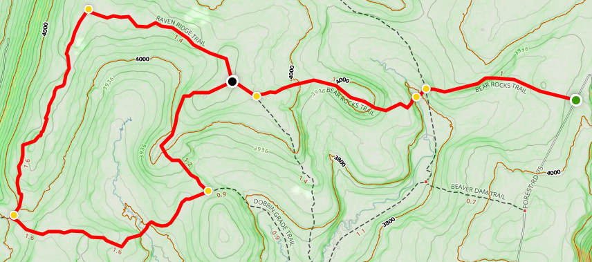 Dolly Sods North Bear Rocks trail map | Live and Let Hike
