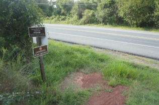 Seneca Bluffs Trail ends at Highway 28