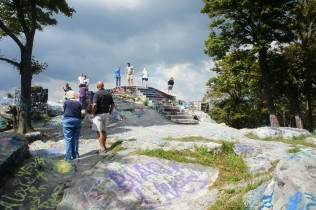 The platform at High Rock - tarnished by graffiti
