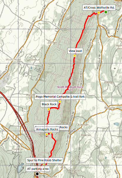 Appalachian Trail – Maryland Section 3: Wolfsville Road to US 40 ...