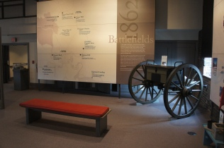Inside the museum at the Visitor Center