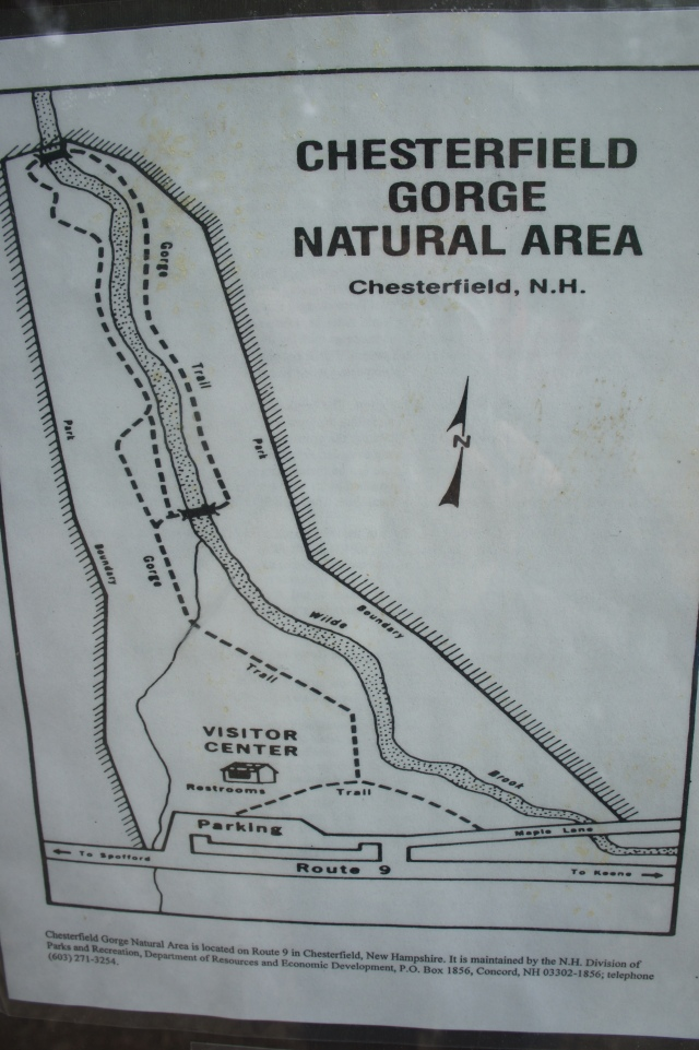 Map of Chesterfield Gorge Natio