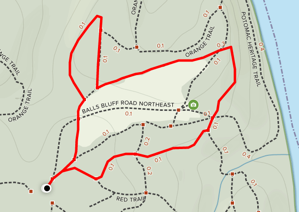 Balls Bluff Battlefield Interpretive Trail map