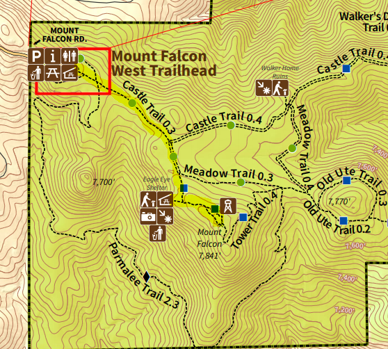 Mount Falcon Tower Trail map