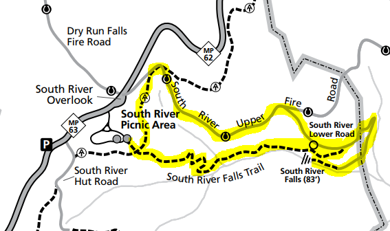 South River Falls trail loop Shenandoah map