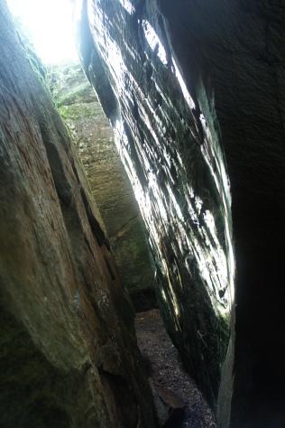Tight, dark passageway
