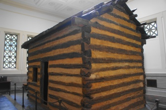 Cabin--not Lincoln's--inside the Memorial Building