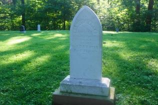 Nancy Lincoln's gravesite in Pioneer Cemetery in Lincoln Boyhood National Memorial