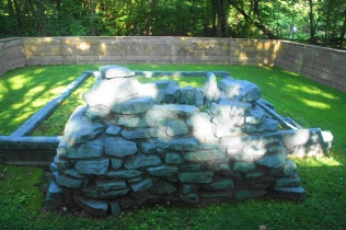 Recreation of the foundation of Lincoln's Boyhood Home
