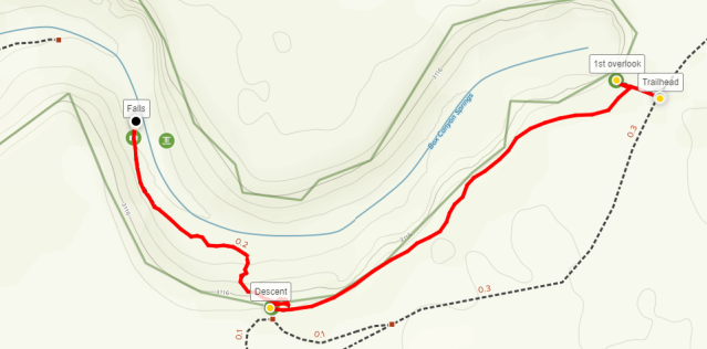 Box Canyon Springs hike map
