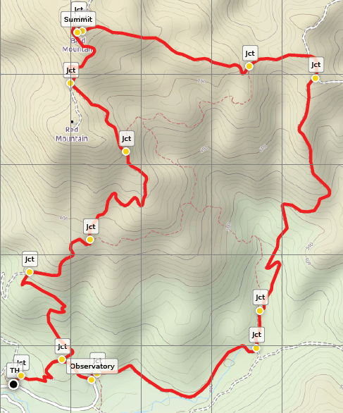 Bald Mountain Trail loop Sugarloaf Ridge map