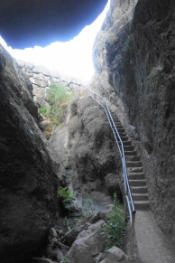 Staircase up to Bear Creek Reservoir