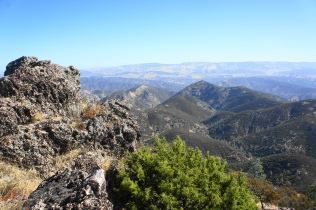 Eastward view from Chalone Peak