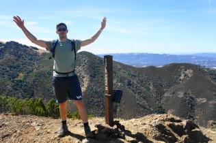 At the summit of Eagle Peak (2,369')