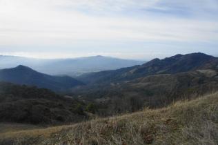Westward view toward Santa Rosa and Mount Hood