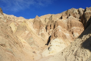 Pink and brown hues in the side canyon